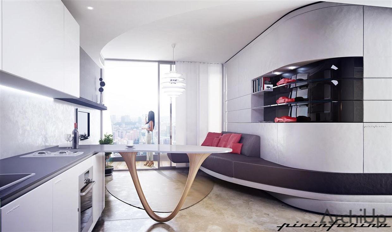 Apartament w Ferra by Pininfarina. Projekt Motiv Studio