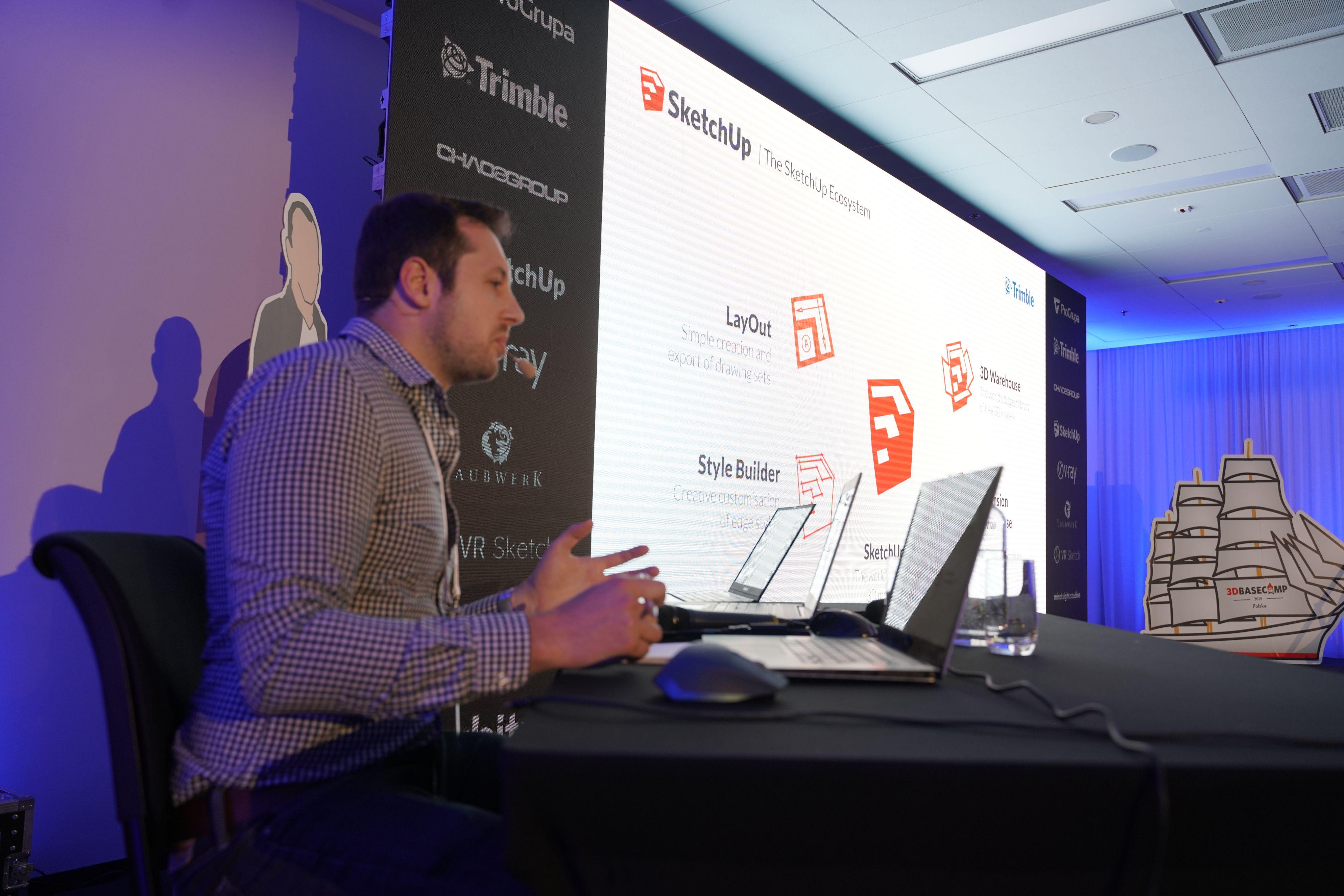 LayOut, Trimble Connect i wiele innych narzędzi dla architektów i projektantów omówił Alex Glass.