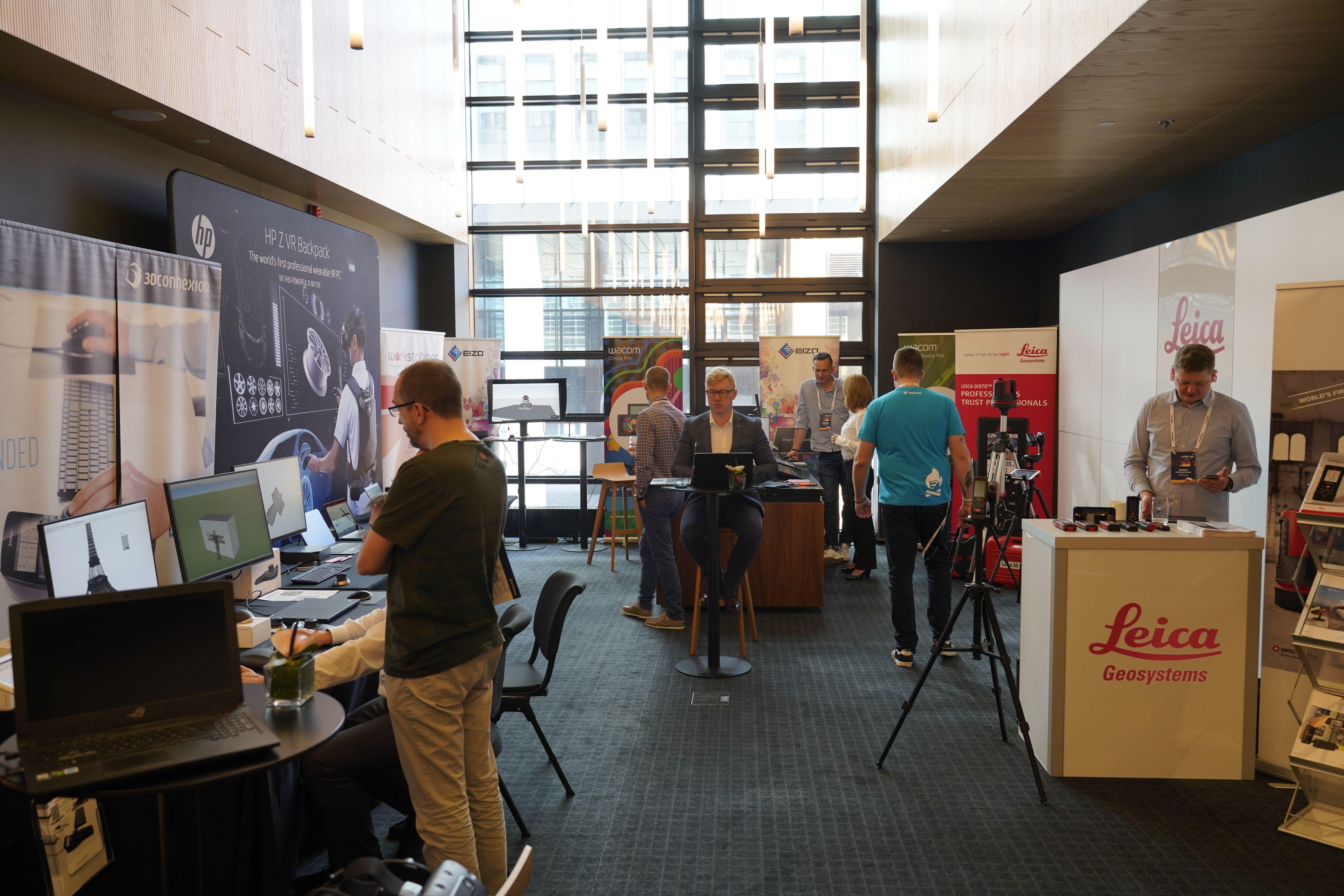 Na stoiskach producentów uczestnicy 3D Basecamp mogli zapoznać się m.in. najnowszymi technologiami wspierającymi proces projektowy.
