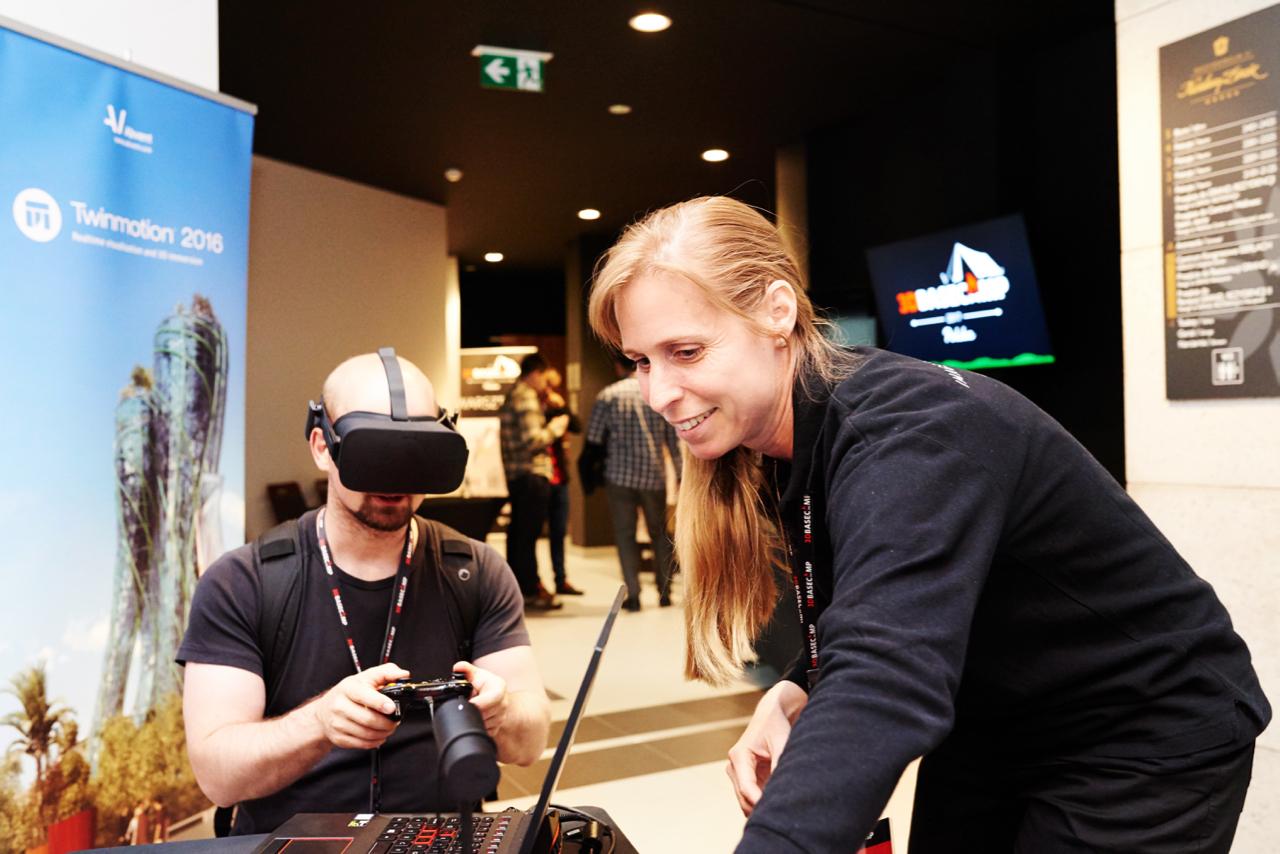 Rozwiązania VR zaprezentowała m.in. firma Abvent