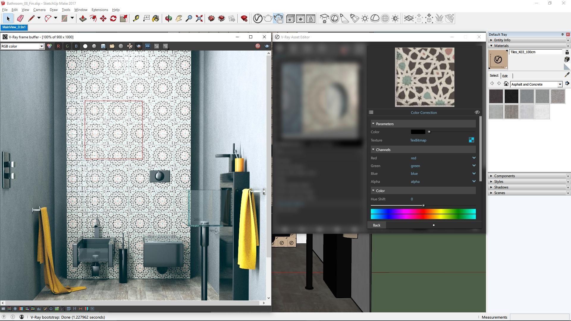Rendering wnętrza z wykorzystaniem V-Ray dla SketchUp (źródło: Chaos Group)