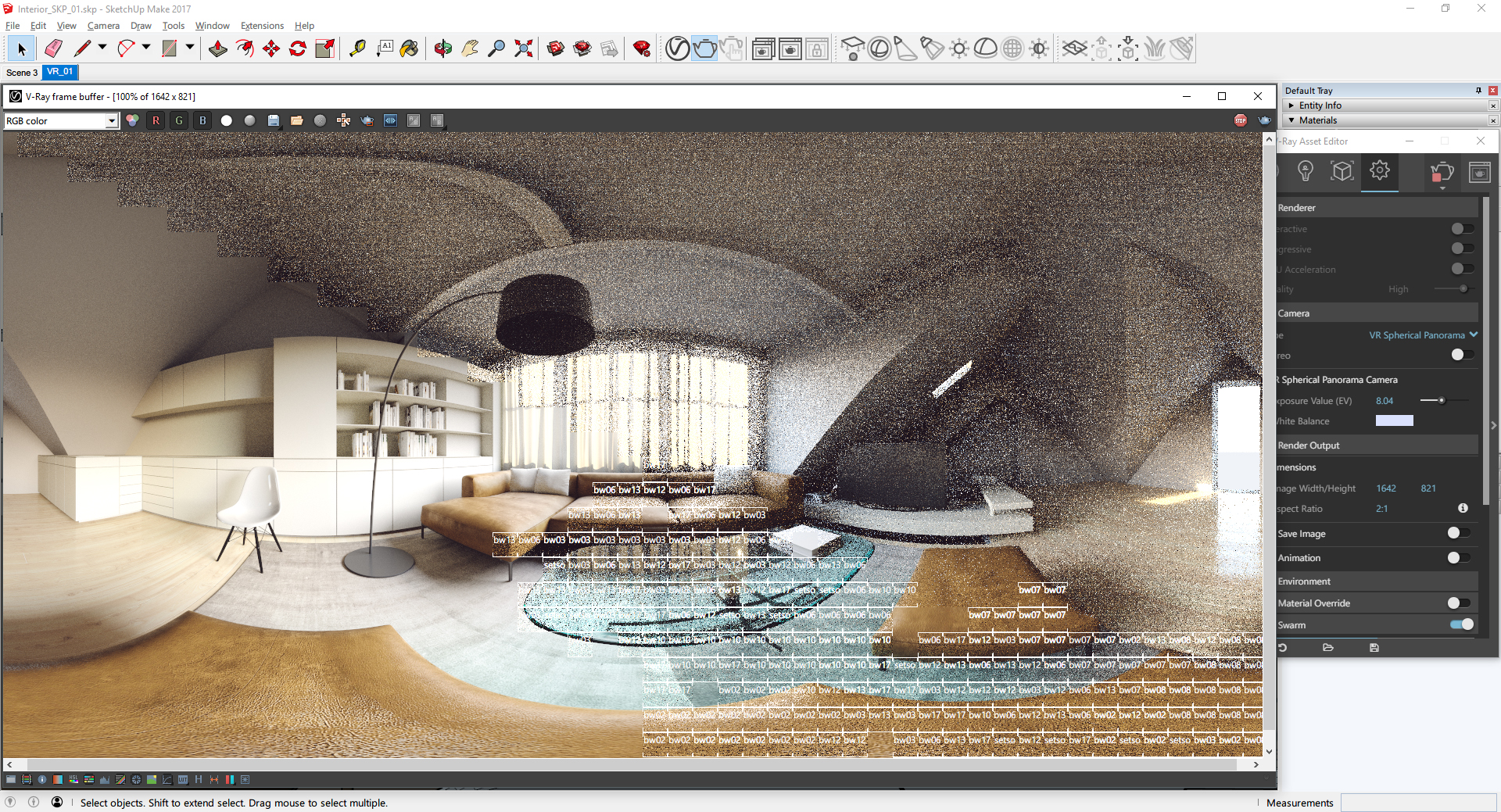 Renderowanie panoramy VR 360° (źródło: ChaosGroup)