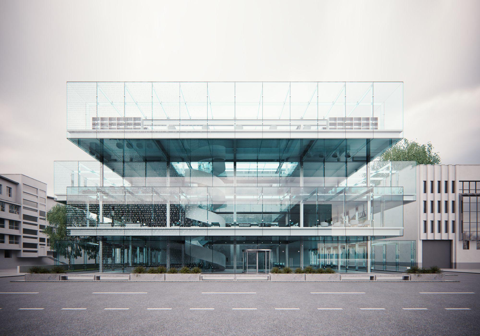 """""""Museum of glass"""" w V-Ray 3 dla SketchUp (źródło: Bartłomiej Ordon)"""