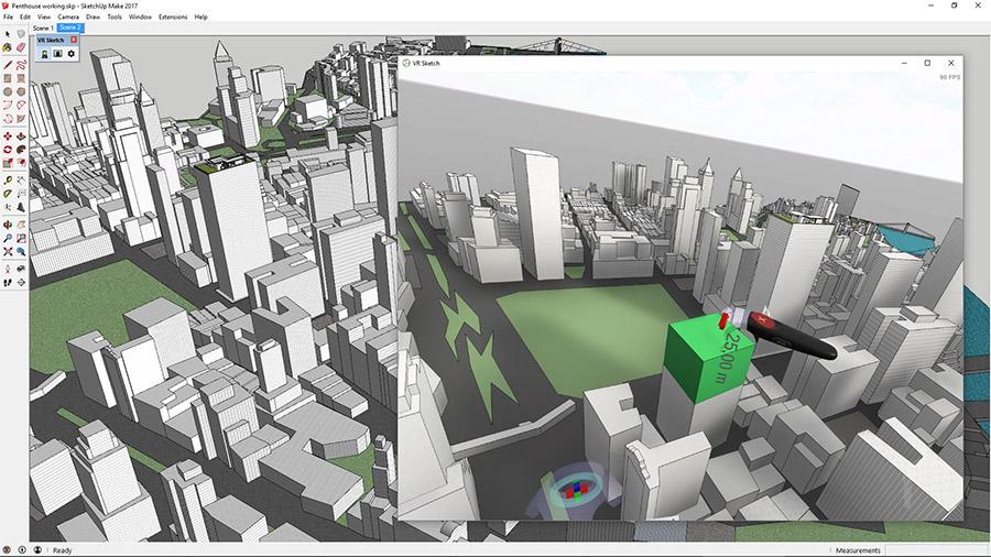 Rzeczywistość wirtualna to łatwa praca poza ekranem komputera (źródło: VR Sketch)