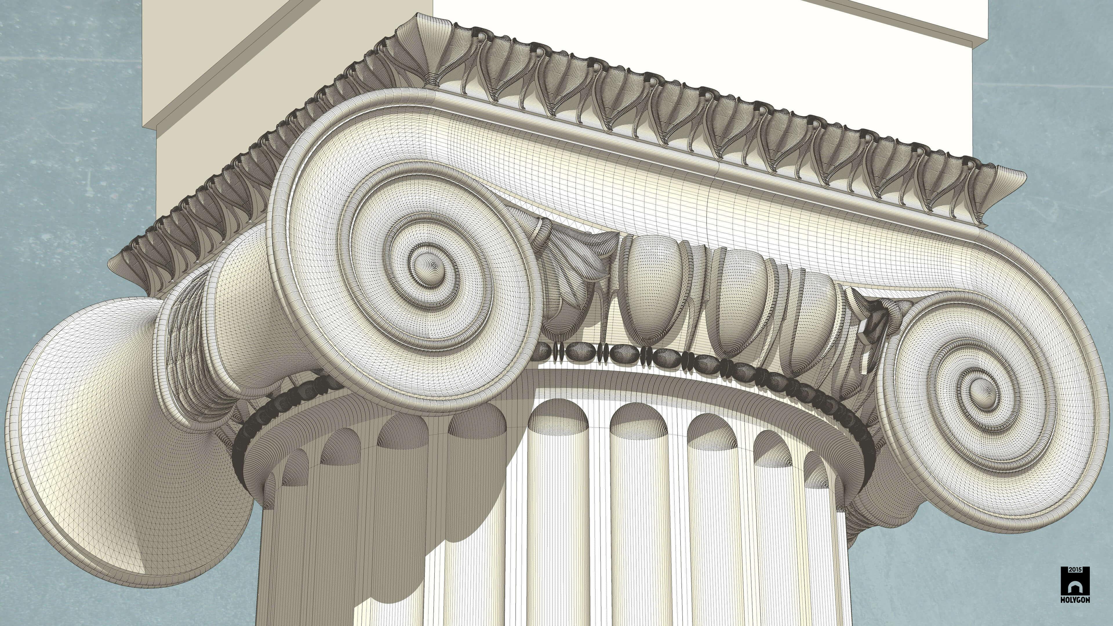 Diabeł tkwi w szczegółach. Opanowanie modelowania podwójnych krzywizn pozwala przywrócić do życia grecką architekturę. (źródło: Holygon)