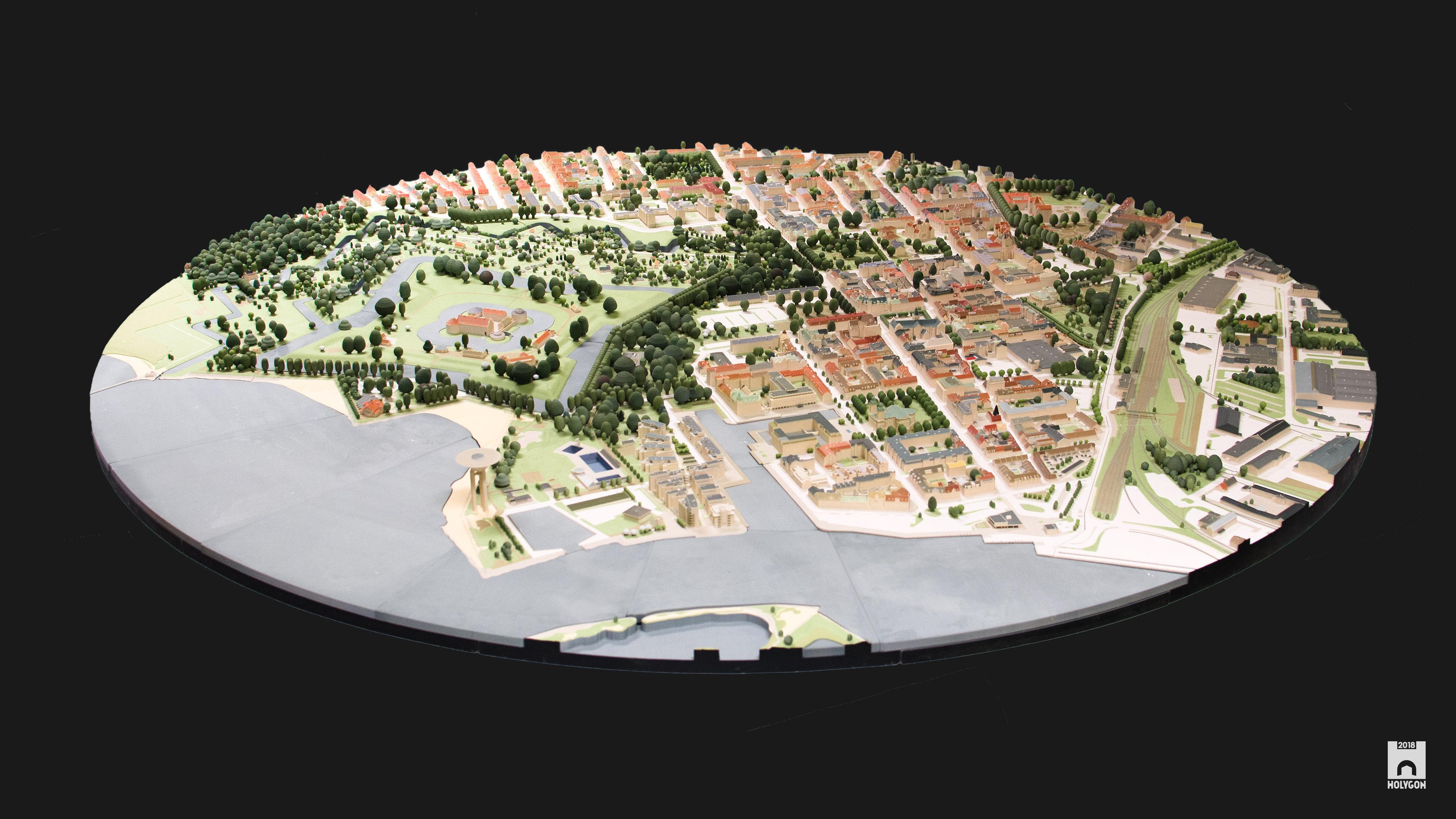 Wydrukowany w 3D model SketchUp miasta Landskrona. Zawiera 35000 elementów w skali 1:1000. (źródło: Holygon)