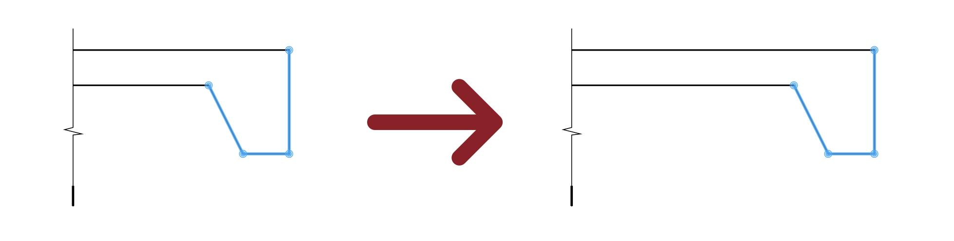 Podczas edycji ścieżki wybierz kilka segmentów lub punktów i przesuń je tak jak robisz to z geometrią w SketchUp.