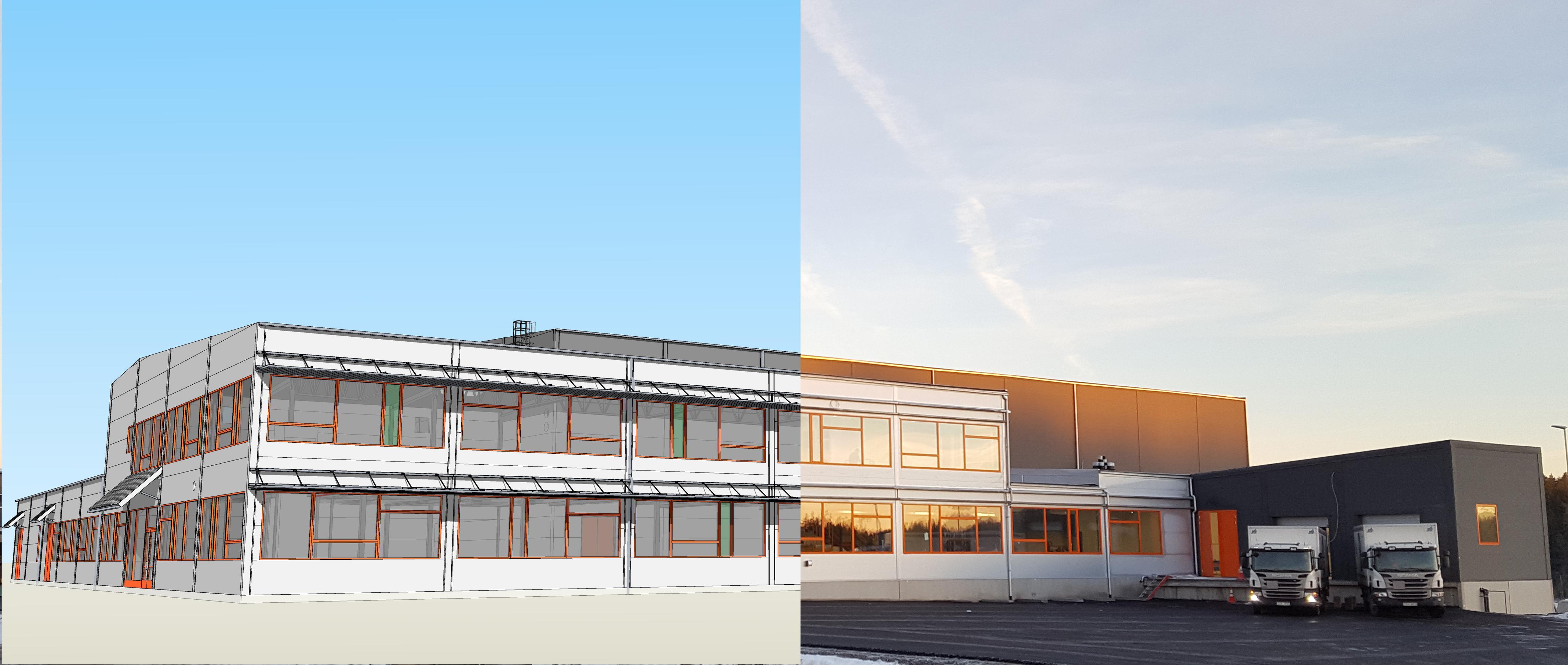 Northpower Stålhallar wykorzystuje SketchUp od początku projektu po jego realizację.