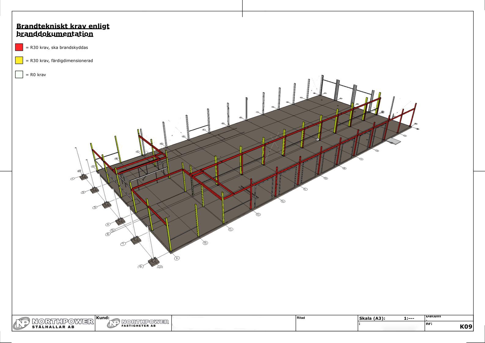 Rysunek konstrukcji przygotowany w LayOut.
