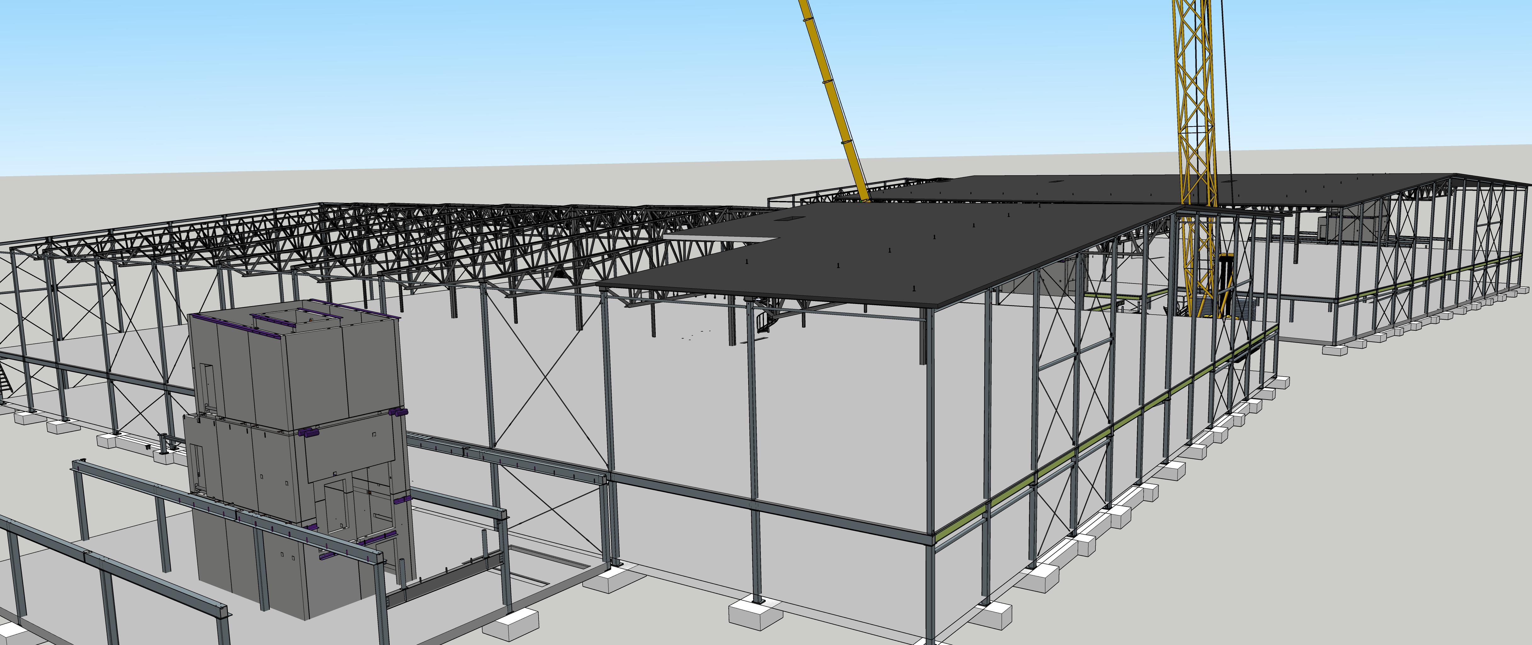 Model 3D SketchUp umożliwia zespołowi Northpower Stålhallar wcześniejszą wizualizację tego, co chcą zbudować.