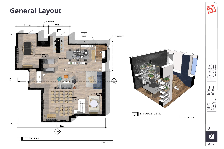 W LayOut przygotujesz dokumentację na bazie modelu 3D SketchUp.