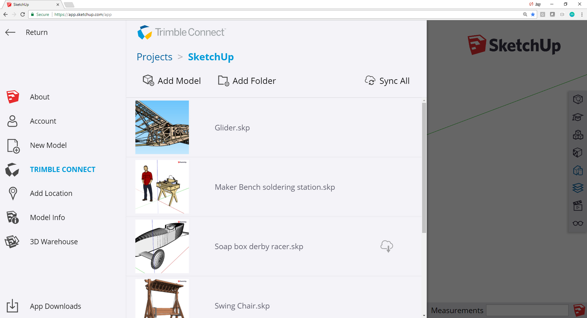 Trimble Connect jest dostępny także samodzielnie w każdej przeglądarce internetowej