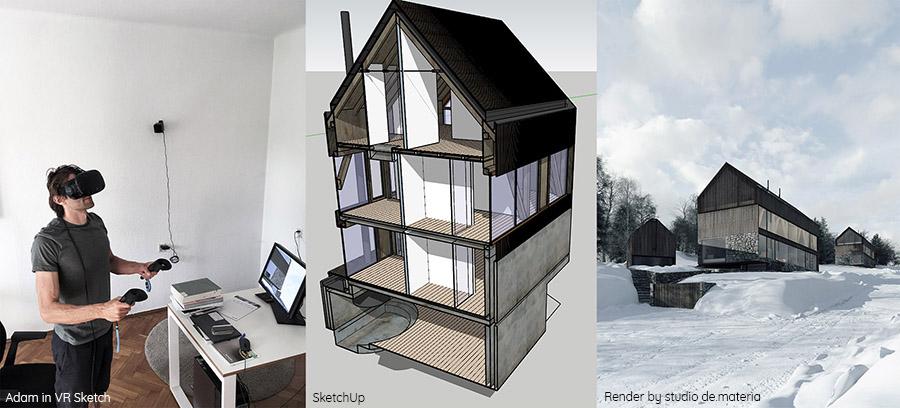 Wykorzystanie VR Sketch w projektowaniu (źródło: Studio de.materia)