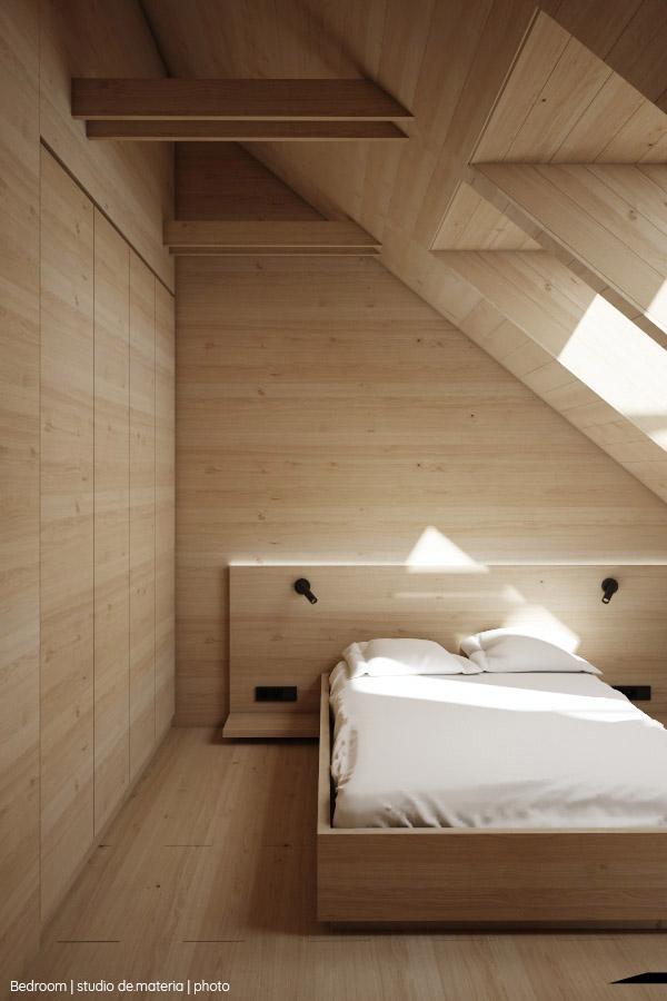 Zdjęcie sypialni (źródło: Studio de.materia)