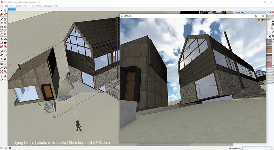 Współpraca SketchUp i VR Sketch (źródło: Studio de.materia)