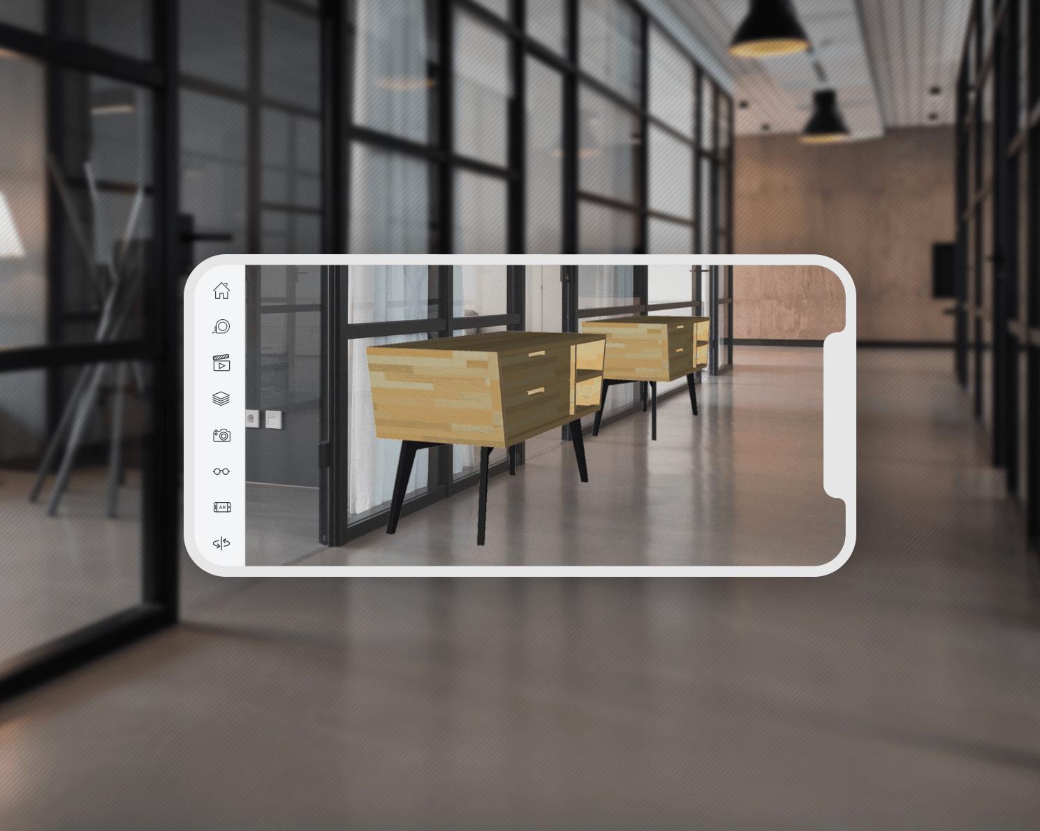 Wykorzystanie rzeczywistości rozszerzonej na telefonie ze SketchUp Viewer for Mobile.