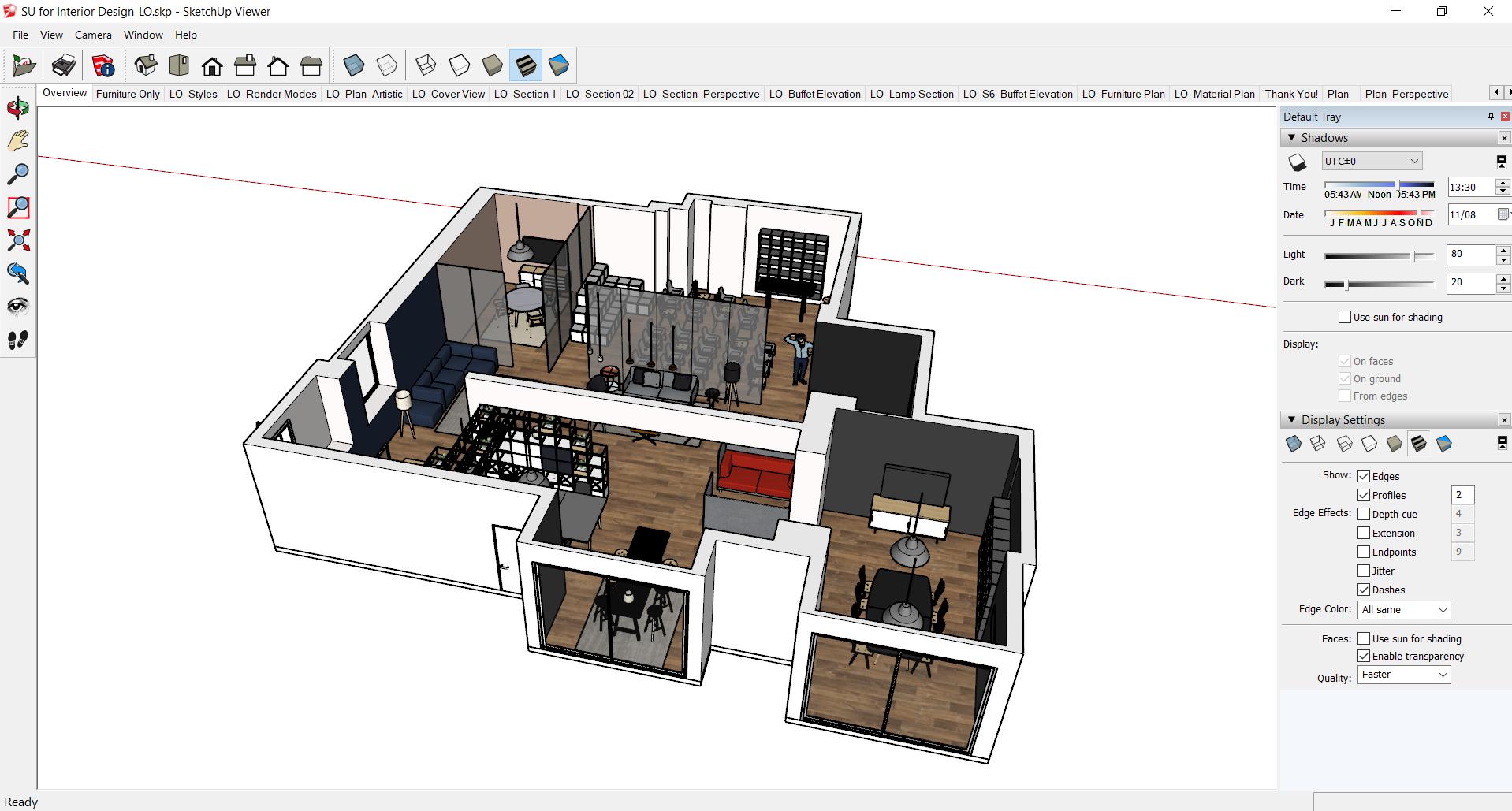 Prezentacja projektu w SketchUp Desktop Viewer.