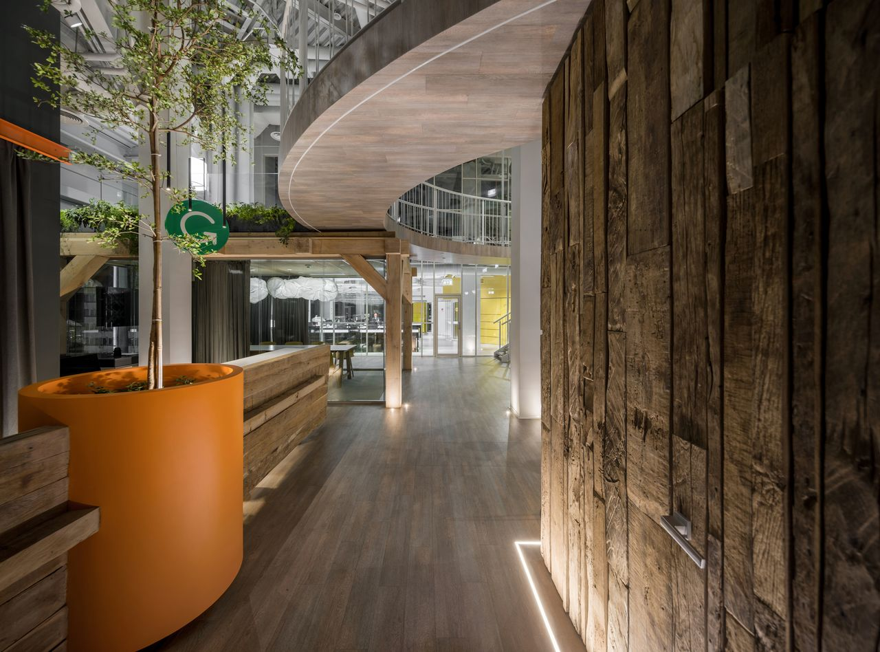 Wnętrze biura Gramarly w Kijowie.