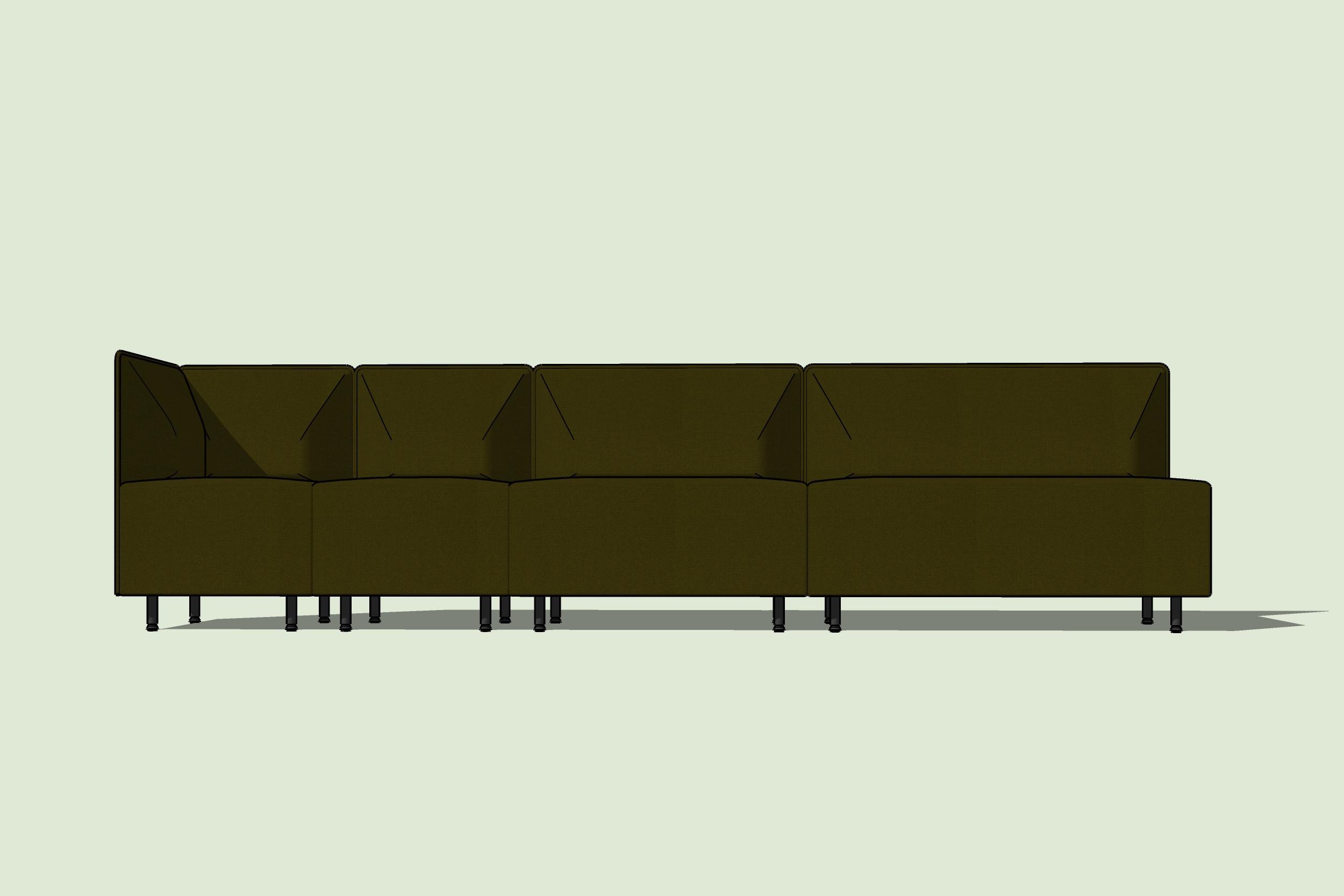 Kolejna odmiana sofy BANK. Wysoce konfigurowalne i wygodne rozwiązanie.