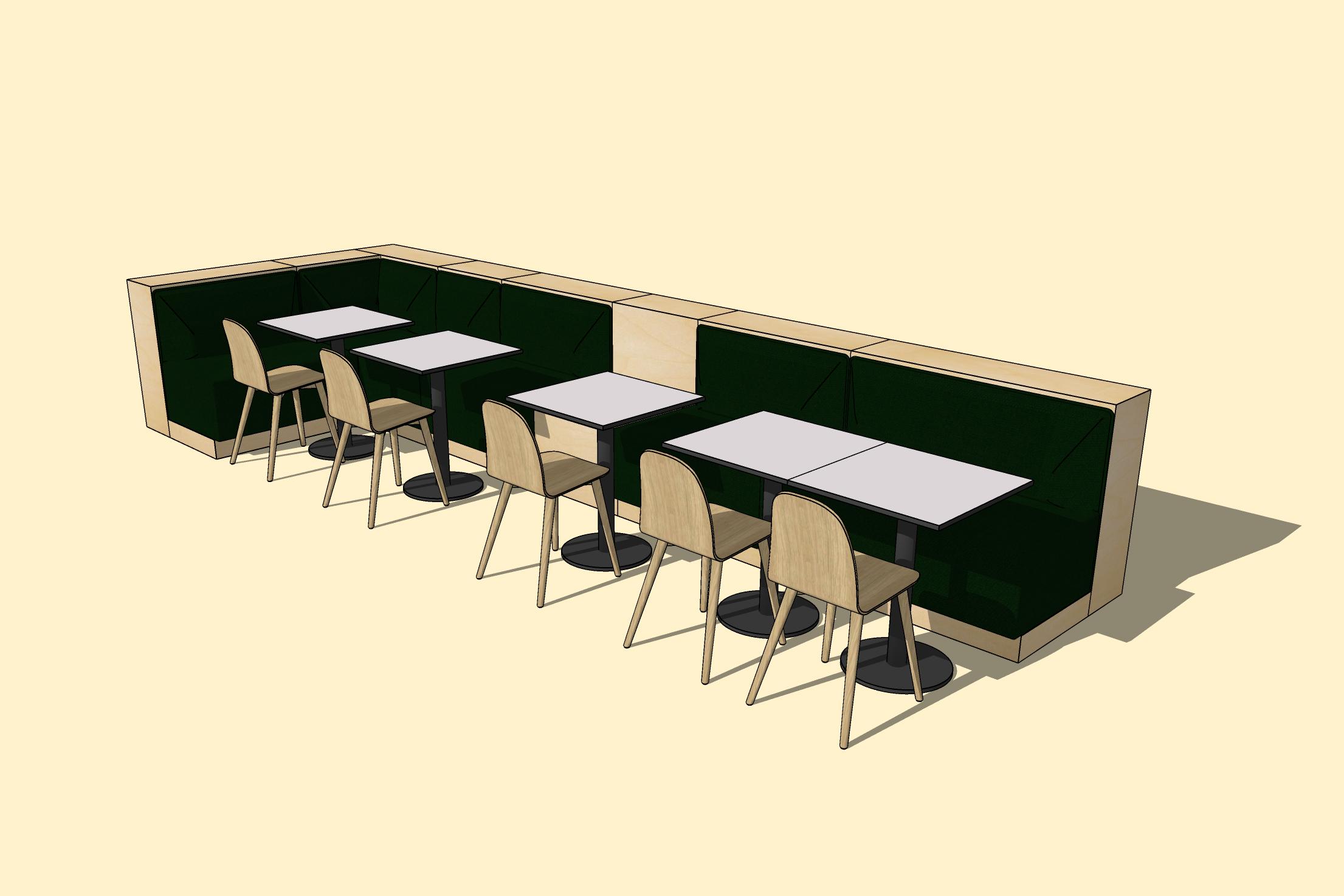 Idealna równowaga między miękką sofą z salonu a swobodnymi siedzeniami w restauracji.