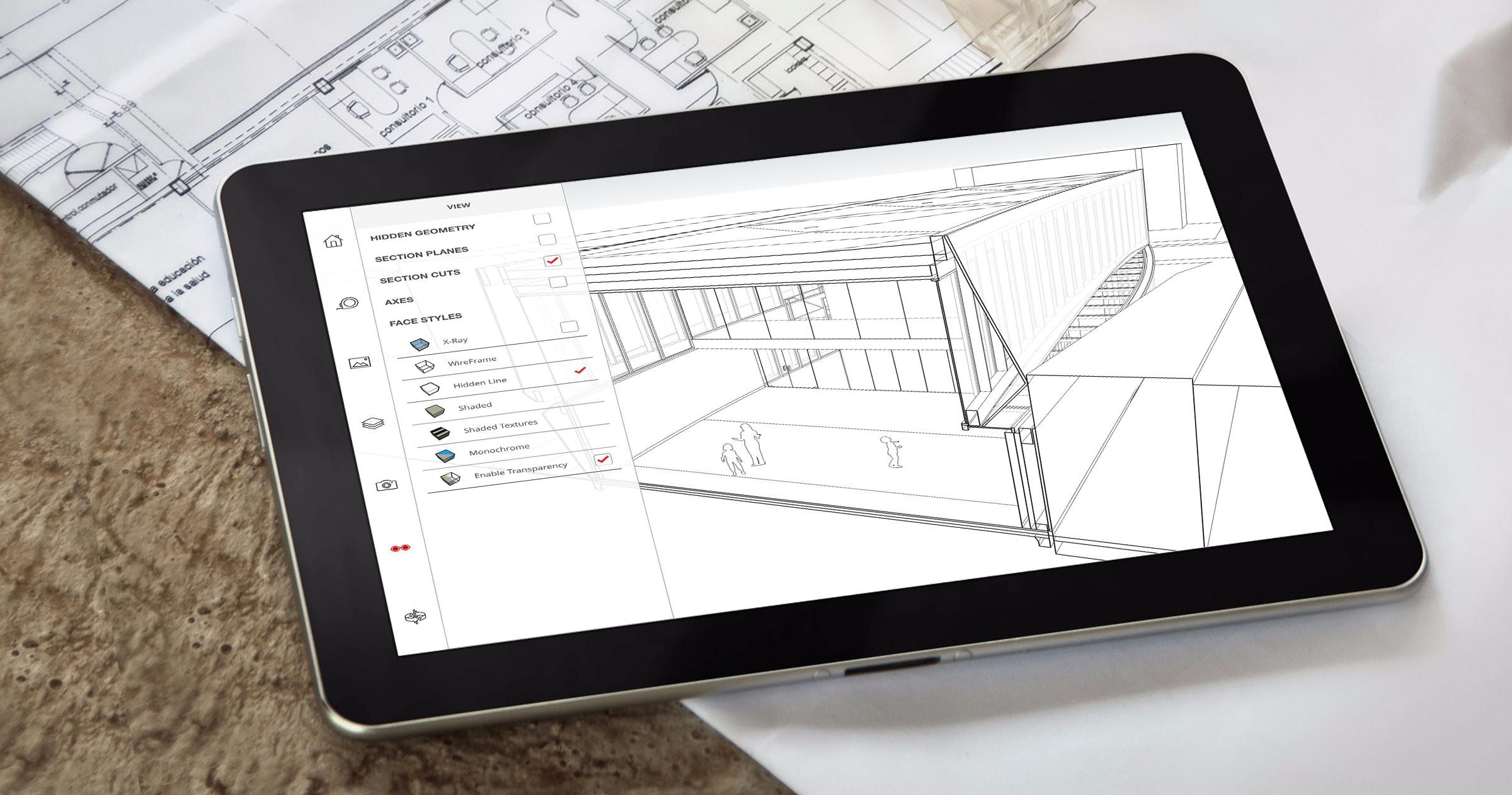 Dzięki SketchUp Mobile Viewer będziesz miał dostęp do swoich projektów z każdego miejsca.
