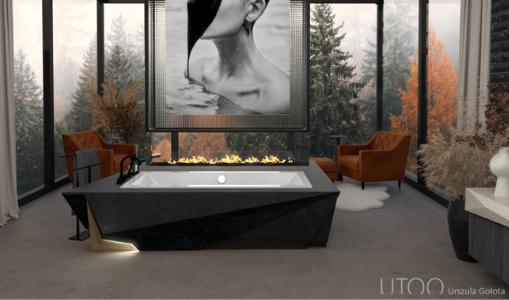 Projekt ,,Jesienny odpoczynek - salon kąpielowy ze strefą relaksu''